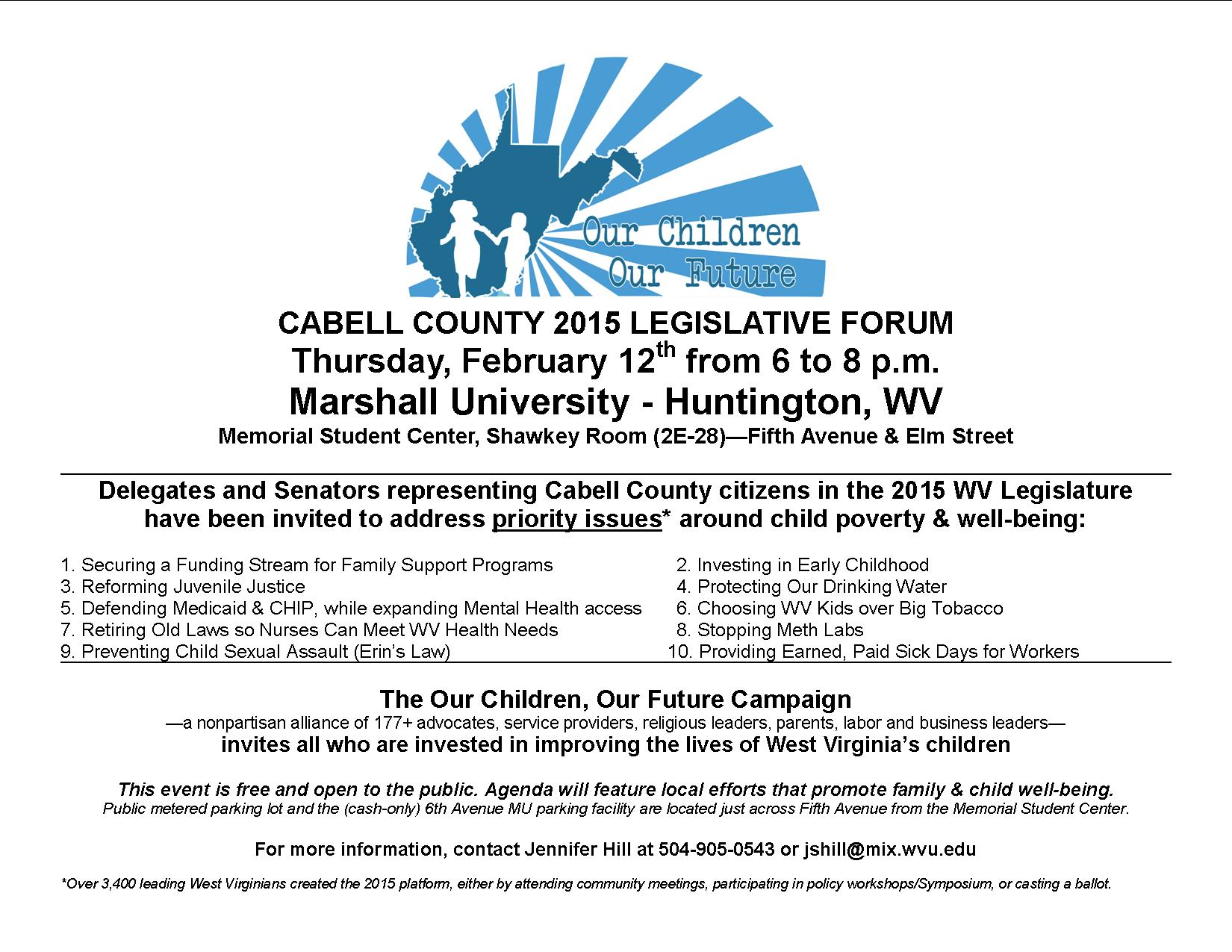 OCOF Cabell Forum Flyer 2-12-15