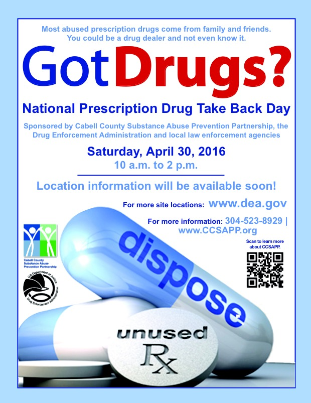 Rx Take Back 4-30-16
