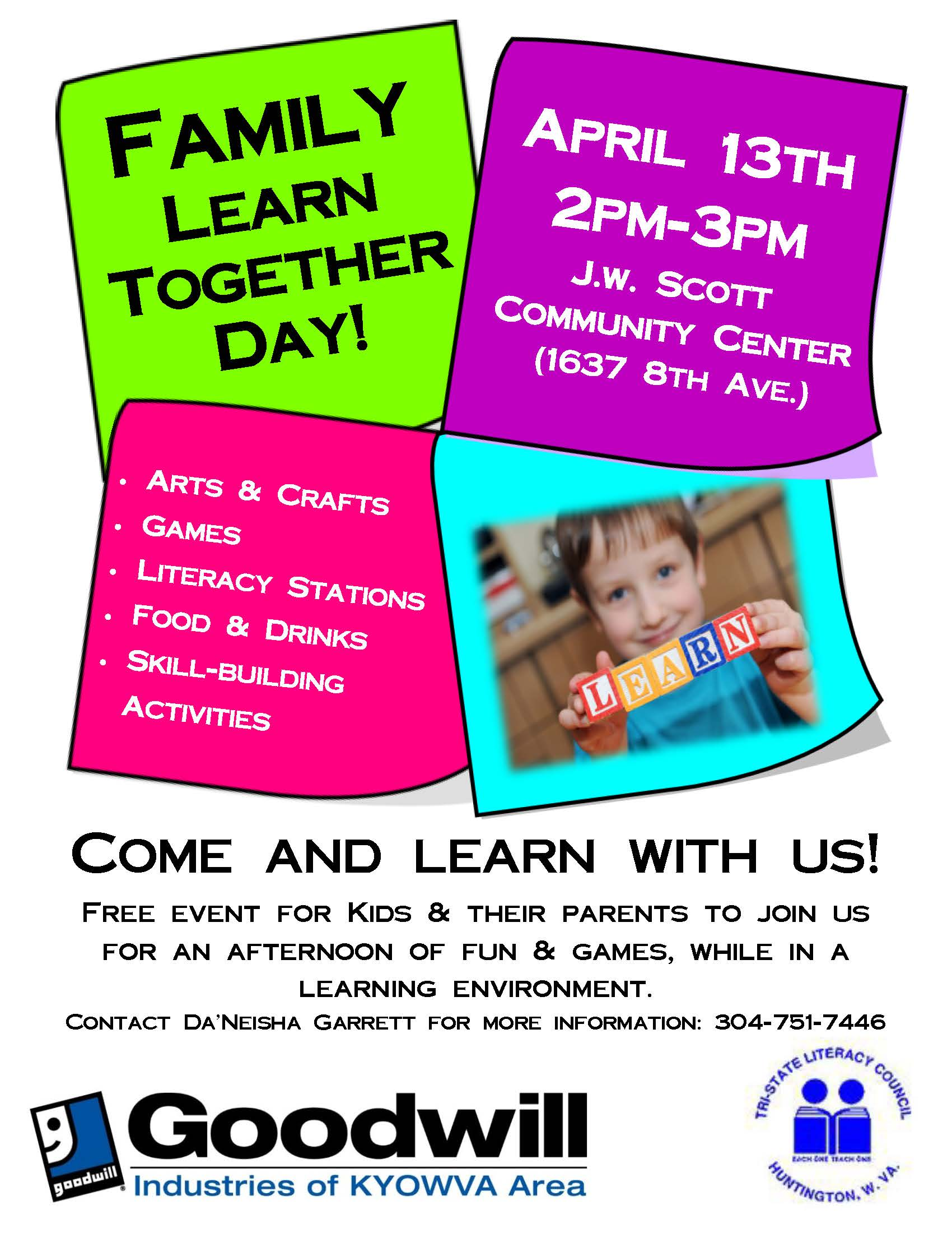 family learn together day scott center 4-13-16