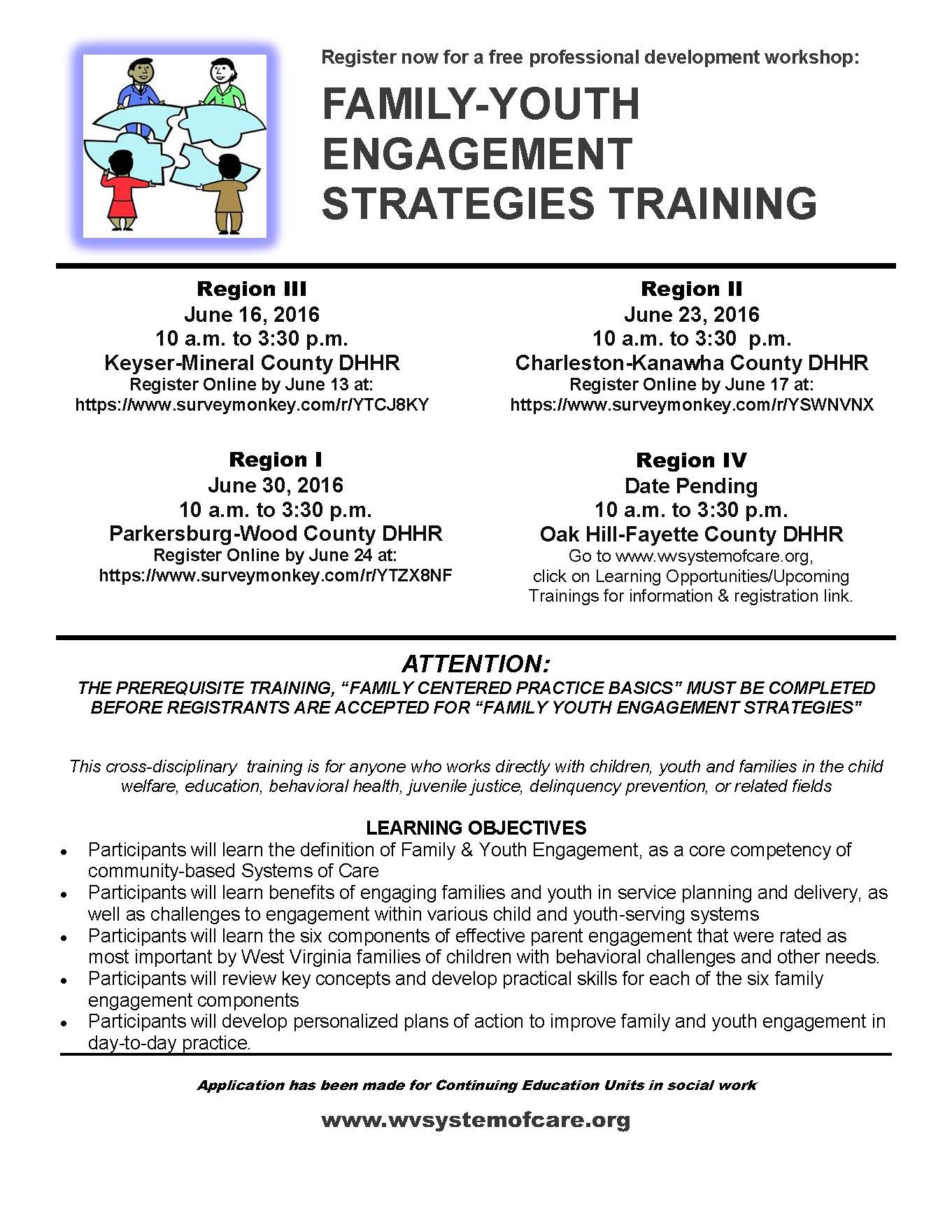 Family Youth Engagement Series Flyer June 3 2016