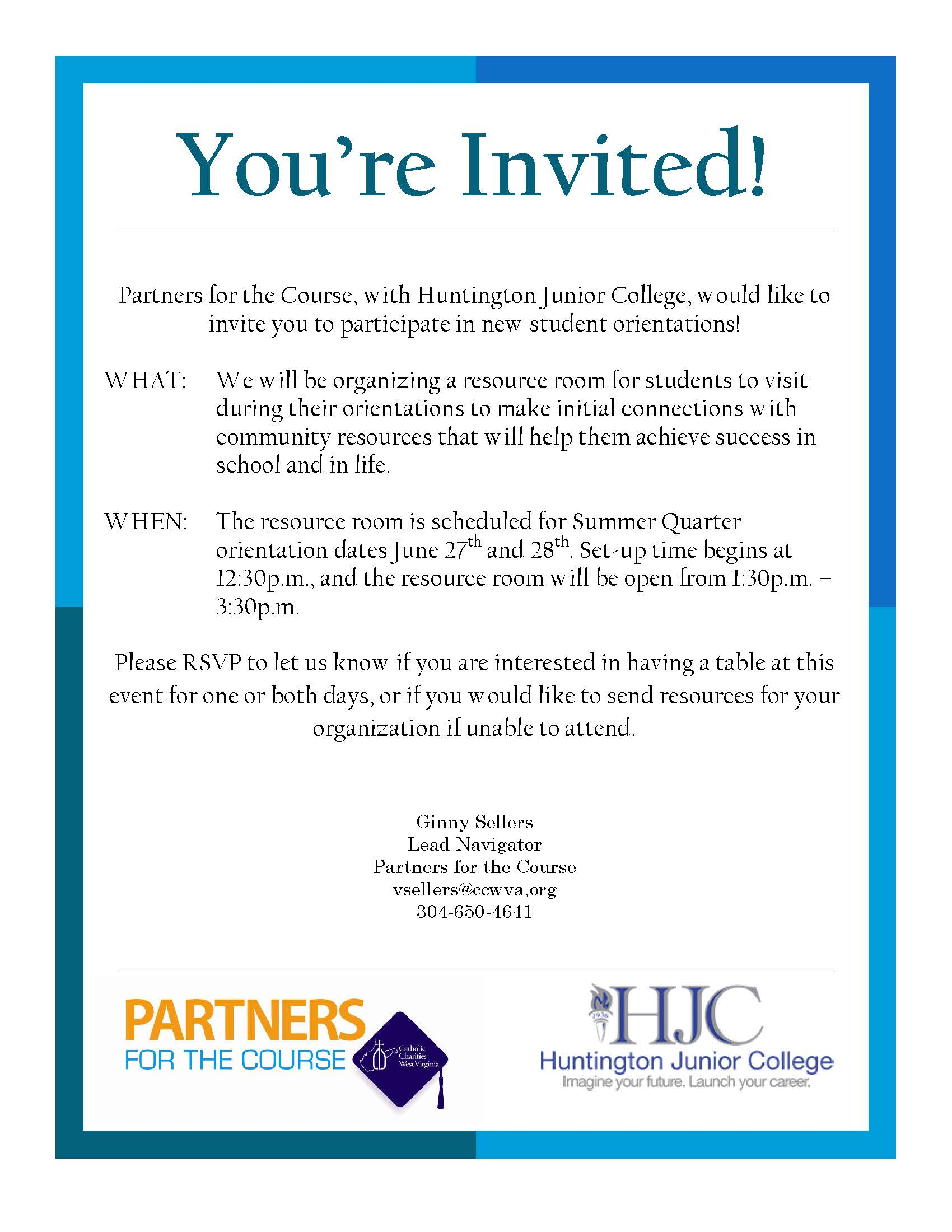 HJC Community Partner Orientation Invite