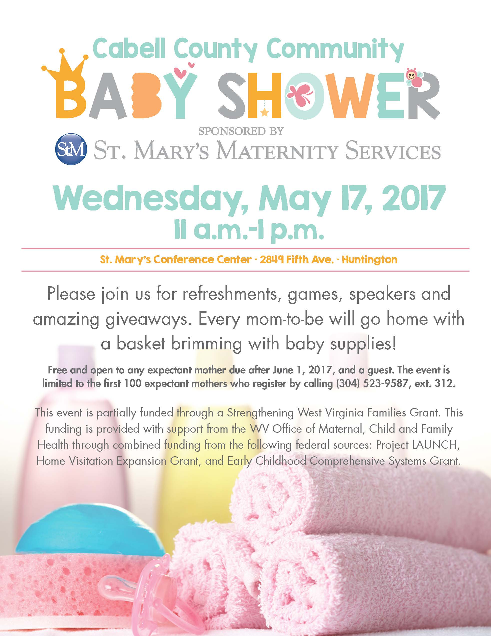 Cabell County munity Baby Shower May 17 – registration required