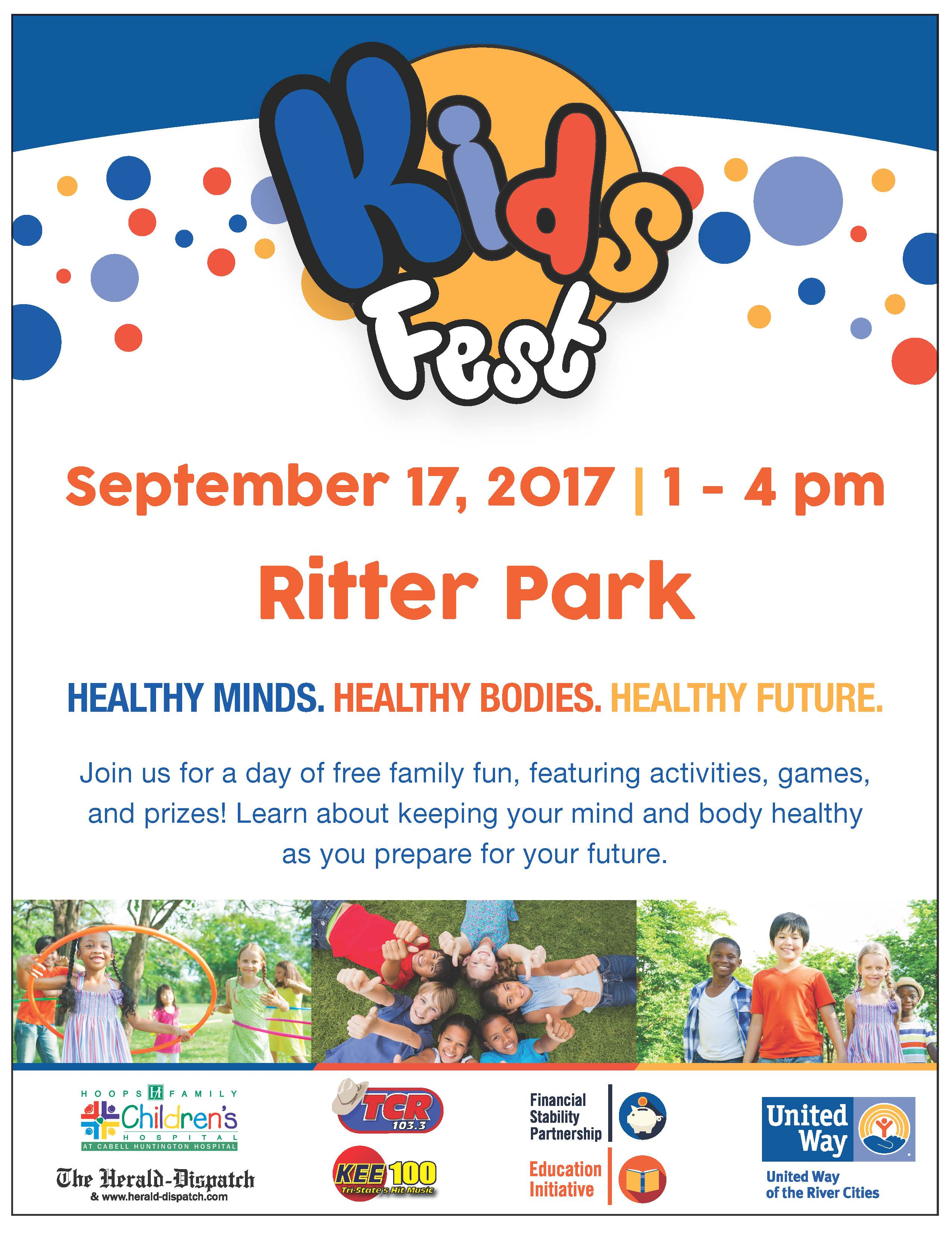 Save the Date Kids Fest in Ritter Park on Sept 17