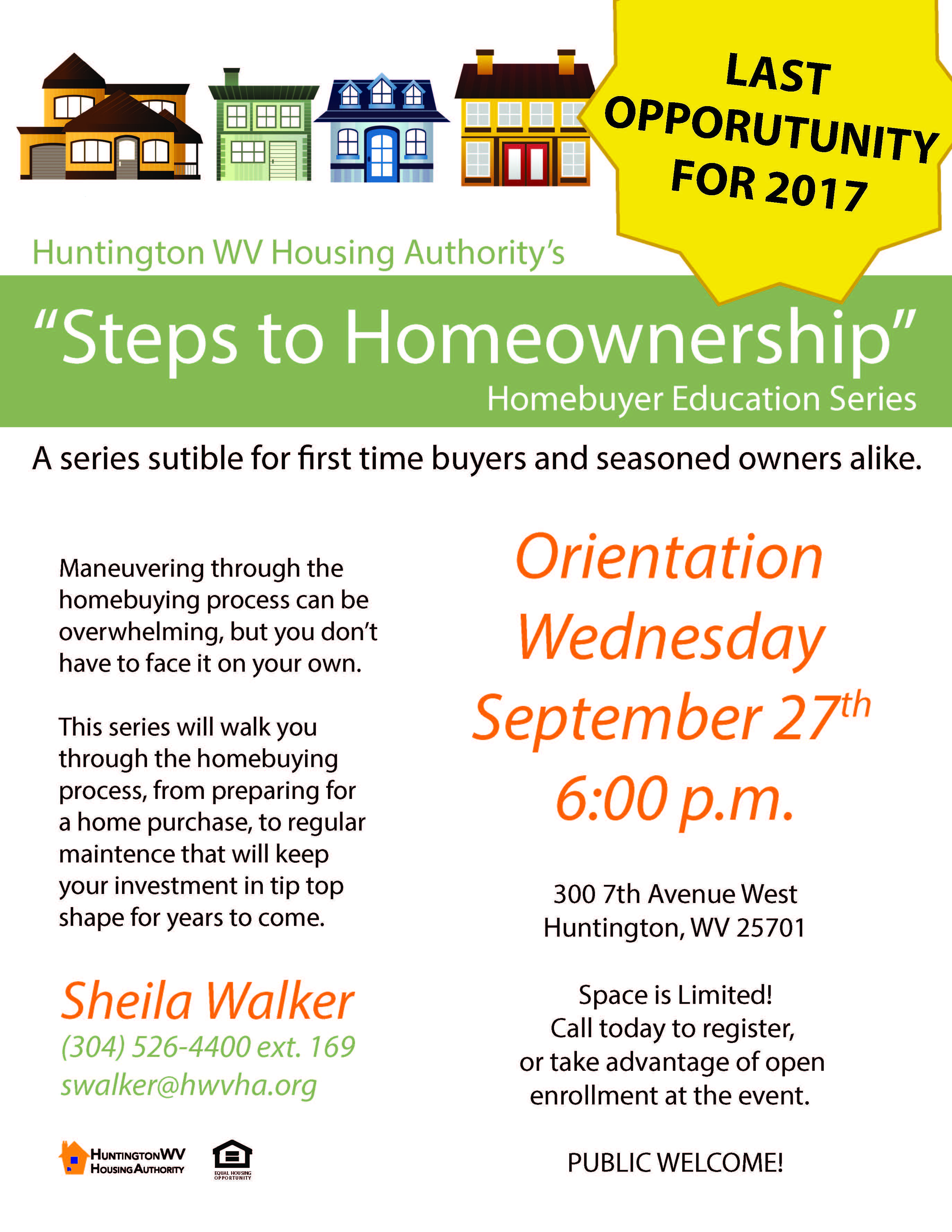 EVENT Steps to home ownership workshop Sept 27 – Cabell