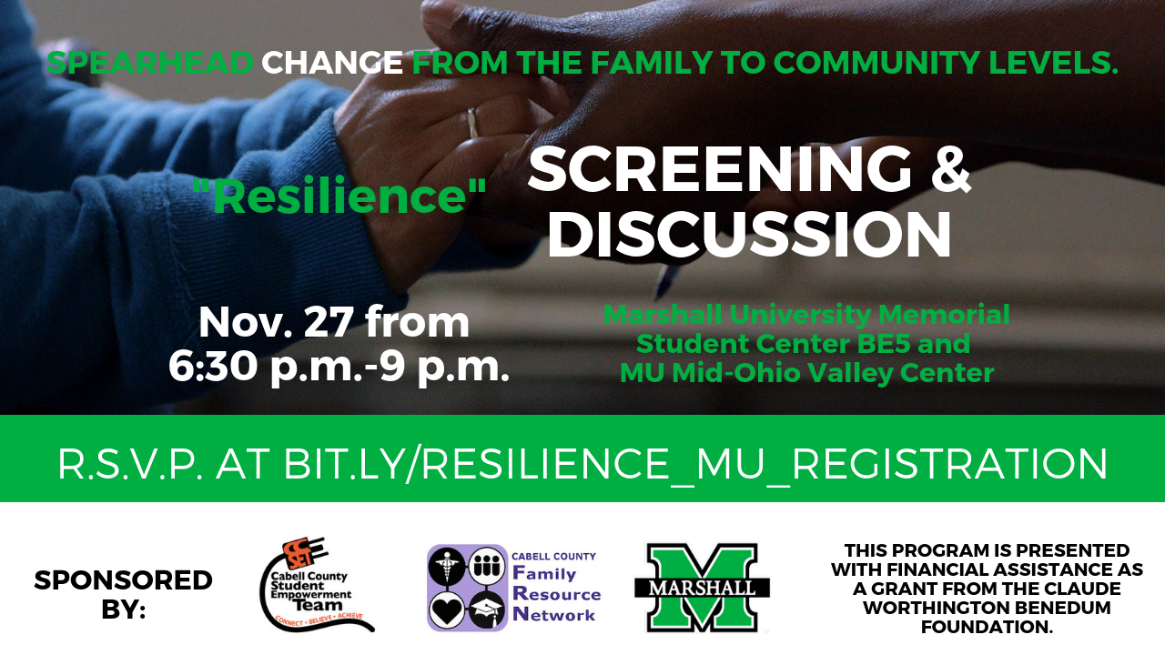 """EVENT: Viewing and discussion of film """"Resilience"""" Nov 27th"""